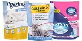 Arena absorbente para gatos